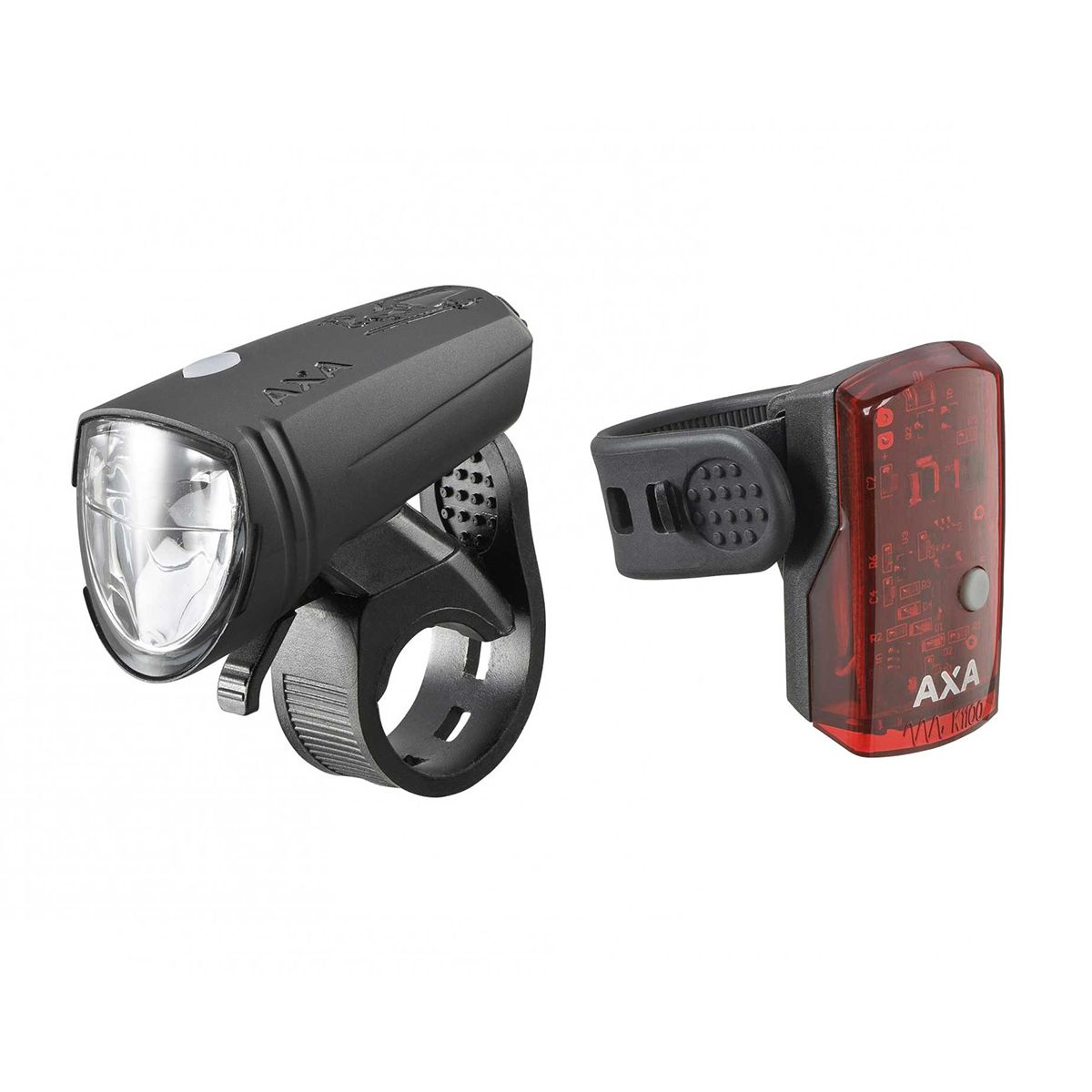 Greenline 15 lux front light + 1 LED rear light USB lighting set