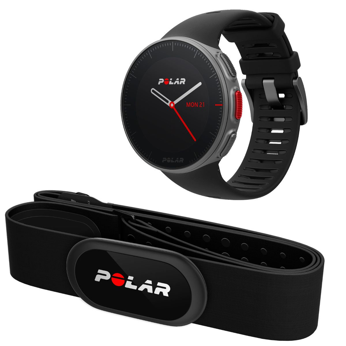 Polar Vantage V GPS watch for multisport and triathlon training with H10  chest strap