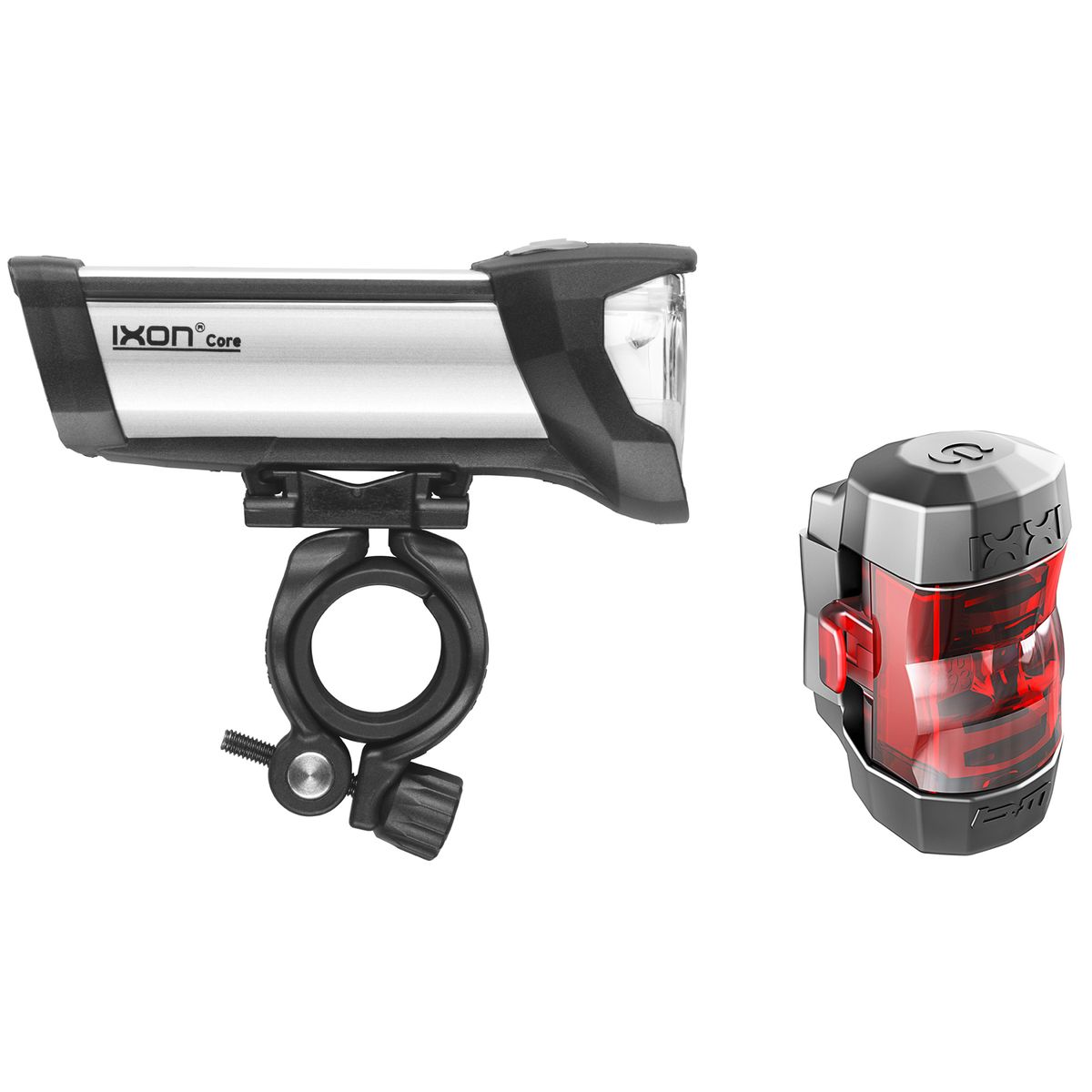 Ixon Core front light and IXXI diode rear light set